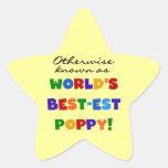 Camisetas y regalos si no sabidos de la amapola pegatinas forma de estrellaes personalizadas