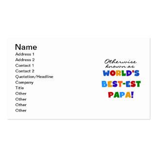 Camisetas y regalos si no sabidos de la papá tarjetas de visita