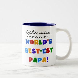 Camisetas y regalos si no sabidos de la papá taza de café de dos colores