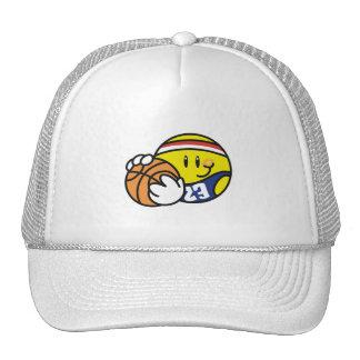 Camisetas y regalos sonrientes del baloncesto gorra