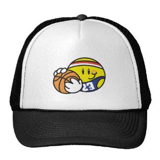 Camisetas y regalos sonrientes del baloncesto gorras de camionero