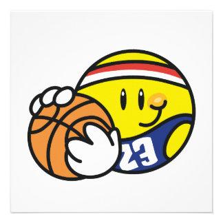 Camisetas y regalos sonrientes del baloncesto comunicado personalizado