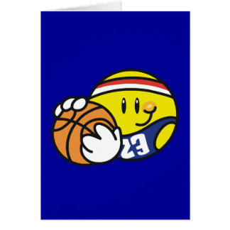 Camisetas y regalos sonrientes del baloncesto tarjetas