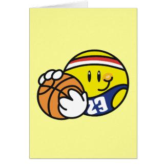 Camisetas y regalos sonrientes del baloncesto felicitaciones