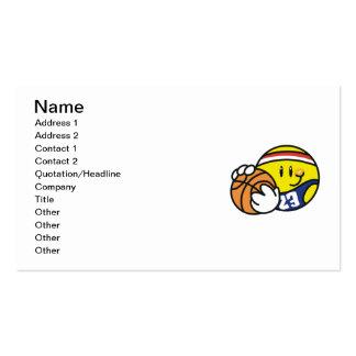 Camisetas y regalos sonrientes del baloncesto tarjetas de visita