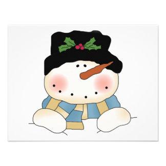 Camisetas y regalos sonrientes del muñeco de nieve comunicado