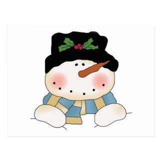 Camisetas y regalos sonrientes del muñeco de nieve postales