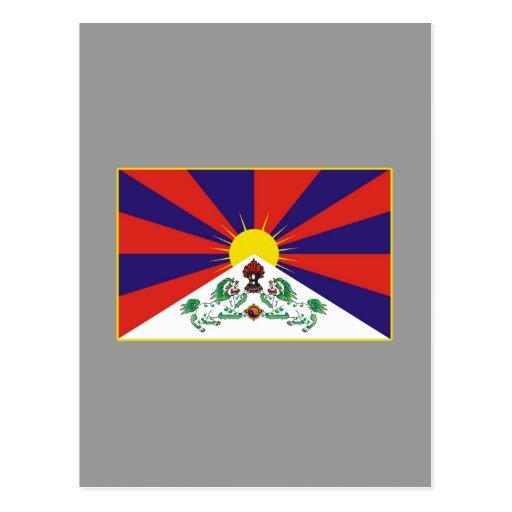 Camisetas y regalos tibetanos de la bandera postales