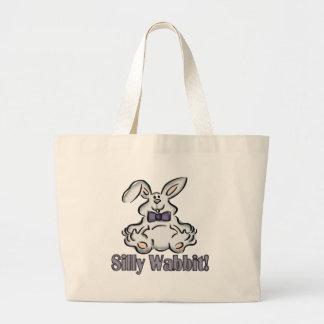 Camisetas y regalos tontos del conejo de los niños bolsas lienzo
