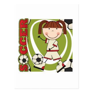 Camisetas y regalos triguenos del chica del fútbol tarjeta postal