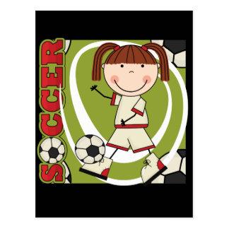 Camisetas y regalos triguenos del chica del fútbol postal