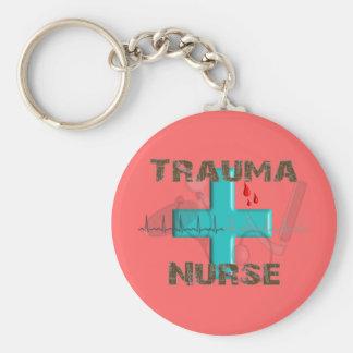 Camisetas y regalos únicos de la enfermera del tra llavero redondo tipo pin