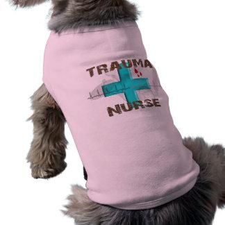 Camisetas y regalos únicos de la enfermera del tra playera sin mangas para perro