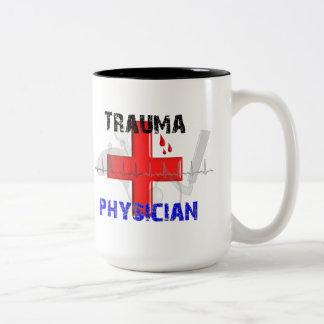 Camisetas y regalos únicos del médico del trauma taza de café
