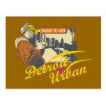 Camisetas y regalos urbanos de Detroit Tarjeta Postal