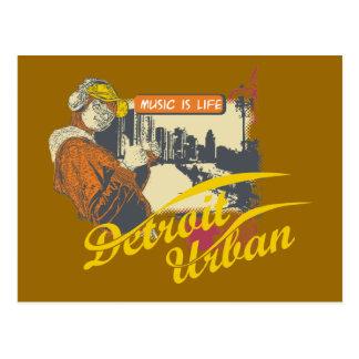 Camisetas y regalos urbanos de Detroit Tarjetas Postales