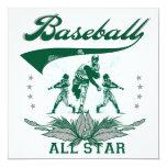Camisetas y regalos verdes de All Star del béisbol Comunicados Personalizados