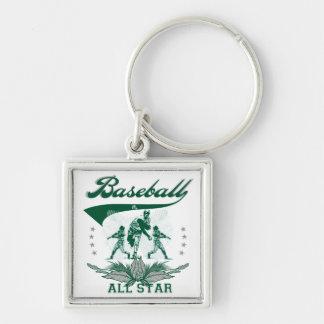 Camisetas y regalos verdes de All Star del béisbol Llavero Personalizado