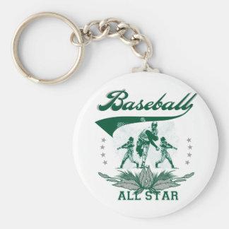 Camisetas y regalos verdes de All Star del béisbol Llaveros