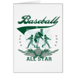 Camisetas y regalos verdes de All Star del béisbol Tarjetón