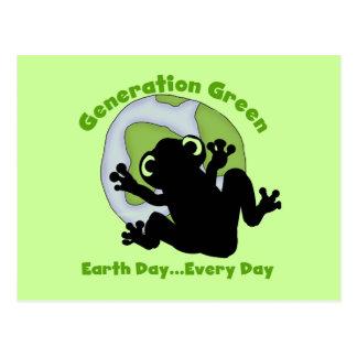 Camisetas y regalos verdes de la generación tarjetas postales