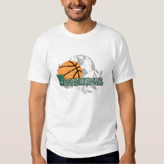 Camisetas y regalos verdes del baloncesto playeras