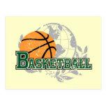 Camisetas y regalos verdes del baloncesto postales
