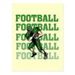 Camisetas y regalos verdes del futbolista postal