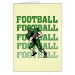 Camisetas y regalos verdes del futbolista felicitaciones