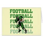 Camisetas y regalos verdes del futbolista tarjetón