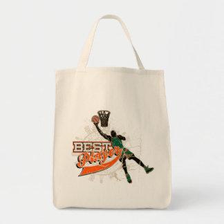 Camisetas y regalos verdes y anaranjados del balon bolsas lienzo