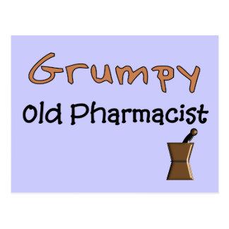 Camisetas y regalos viejos gruñones del farmacéuti tarjetas postales