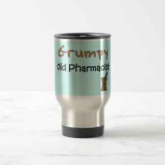 Camisetas y regalos viejos gruñones del farmacéuti tazas de café