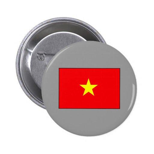 Camisetas y regalos vietnamitas de la bandera pin redondo de 2 pulgadas