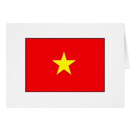 Camisetas y regalos vietnamitas de la bandera tarjeta de felicitación