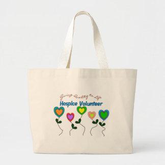 Camisetas y regalos voluntarios del hospicio bolsa tela grande