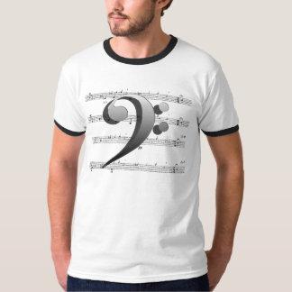 Camisetas y ropa de la música del Clef bajo Playeras