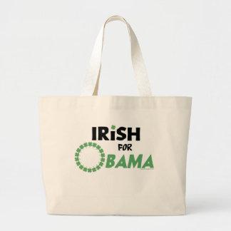 Camisetas y Swag de Obama del irlandés Bolsa Tela Grande