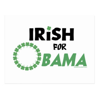Camisetas y Swag de Obama del irlandés Postales
