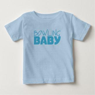Camisetas y una pieza del bebé de los bolos playera