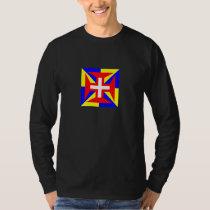 Camisia Longa Negra de Suprema Militia Christi T-Shirt