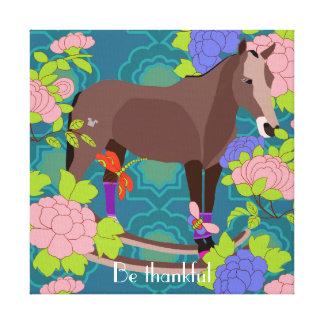 Camista el caballo de madera lona envuelta para galerías