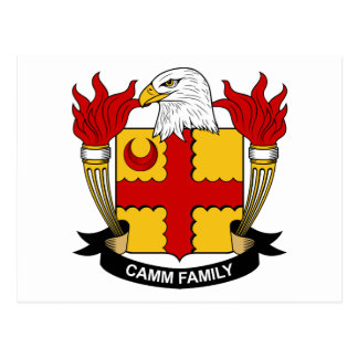 Camm Family Crest Postcard