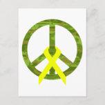Cammo Peace Word & Ribbon