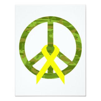 Cammo Peace Word & Ribbon Card