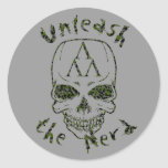 cammo-unleash, cammo-thenerd, Skull-Alone-cammo Stickers