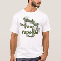 Cammo Vape on T-Shirt