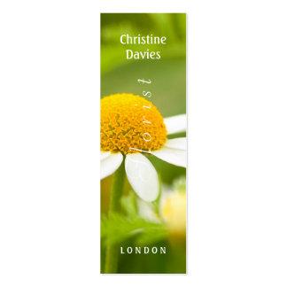 Cammomile macro photograhy, florist business card templates