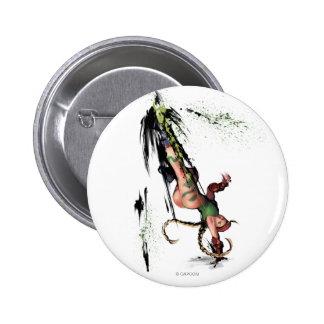Cammy Kick Pinback Button