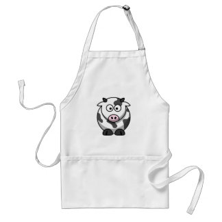 Cammy the Cute Cartoon Cow Adult Apron